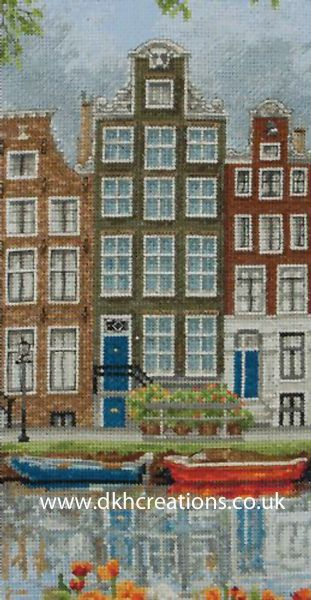 Amsterdam Street Scene Cross Stitch Kit